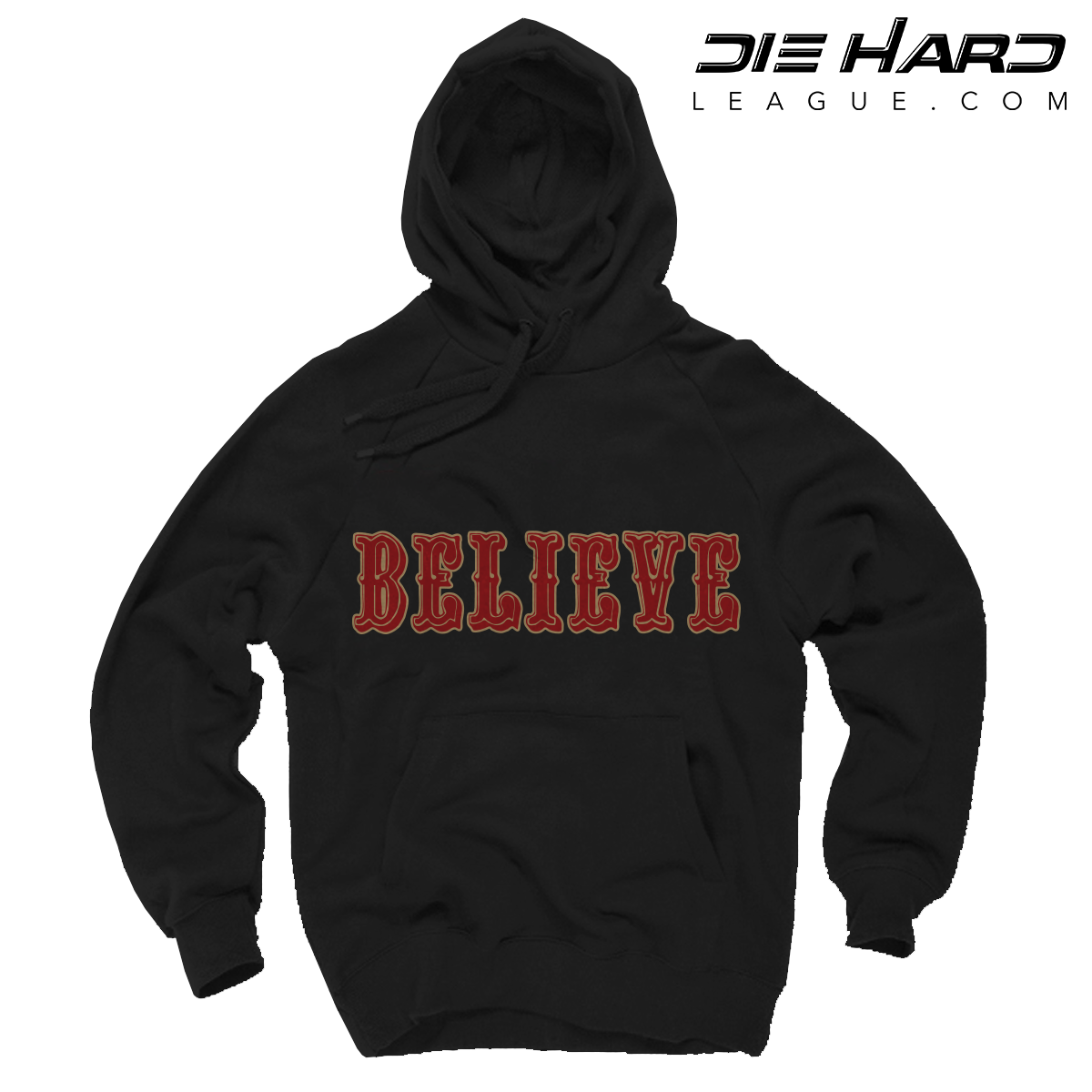 Shop. Home San Francisco 49ers Shop 49ers Sweaters 49er Hoodies – San  Francisco 49ers BELIEVE Black Hoodie 11f5bc610