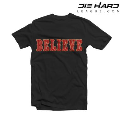 4b34161f7 49ers Shirt - San Francisco 49ers BELIEVE Black Tee