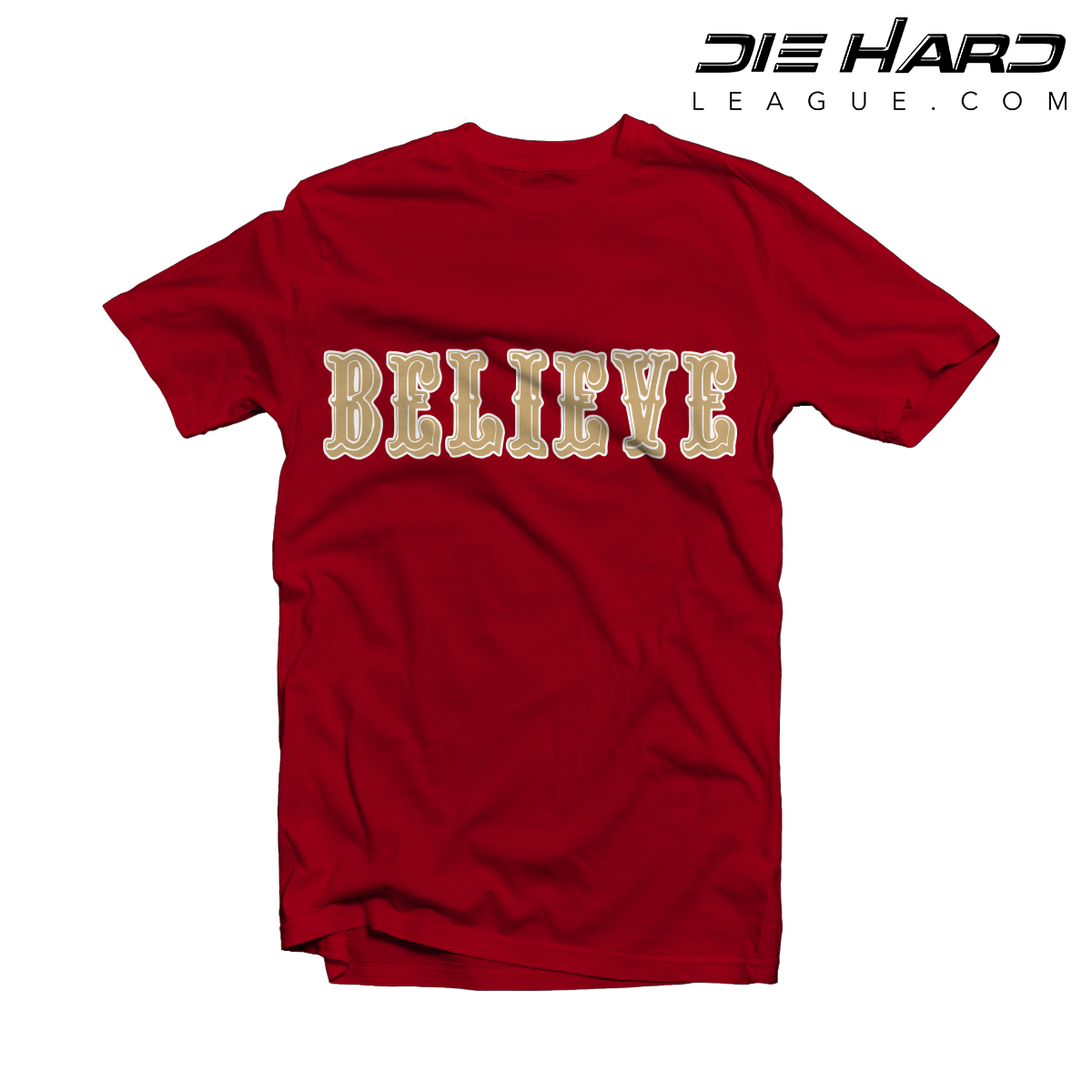 49er Shirts - San Francisco 49ers BELIEVE Red Tee b60b4d01f31f