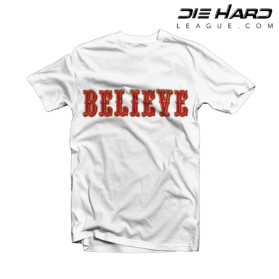 49ers T Shirt - San Francisco 49ers BELIEVE White Tee