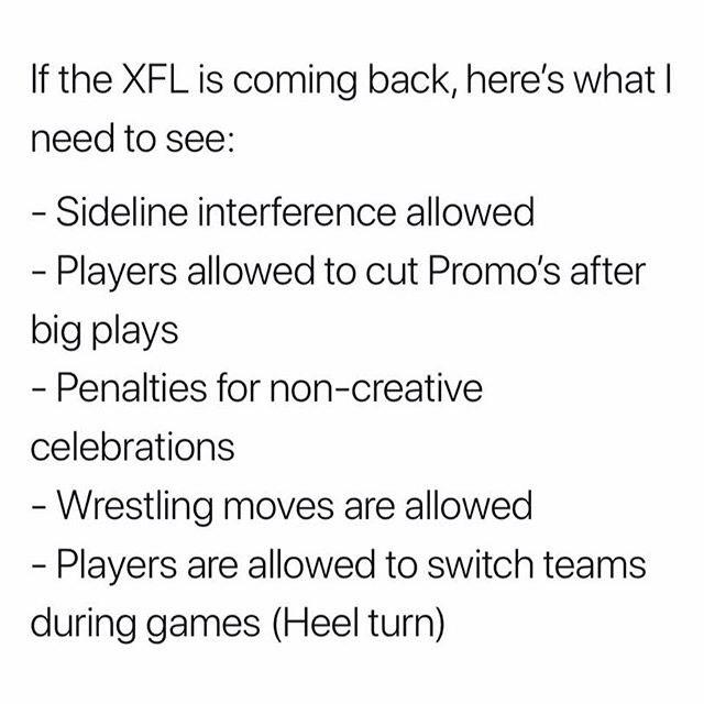 NFL Memes - XFL Memes