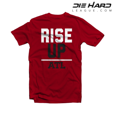 Falcon T Shirts - Atlanta Rise Up Red Shirt