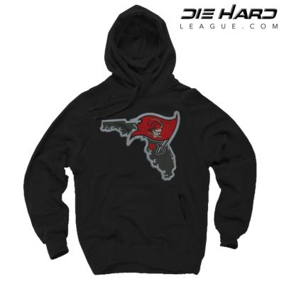Tampa Bay Buccaneers Hoodie Tampa Bay Map Black Sweater