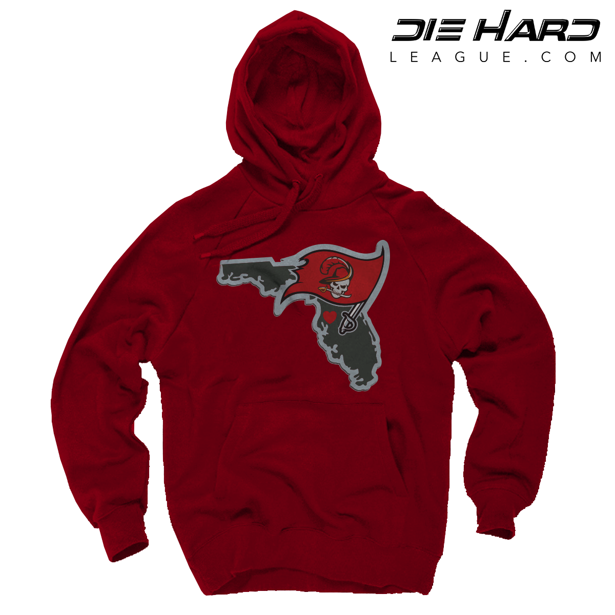 Tampa Bay Buccaneers Hoodie Tampa Bay Map Red Sweater
