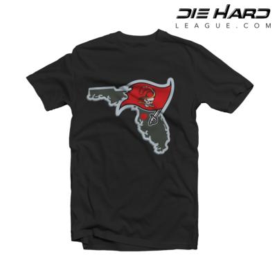 Tampa Bay Buccaneers T Shirt Tampa Bay Map Black Tee