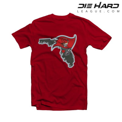 Tampa Bay Buccaneers T Shirt Tampa Bay Map Red Tee