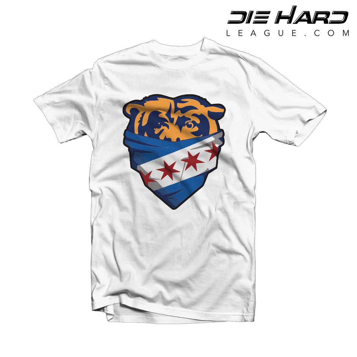 lowest price c83b3 81e39 Chicago Bears Shop - Chicago Bandanna White Tee