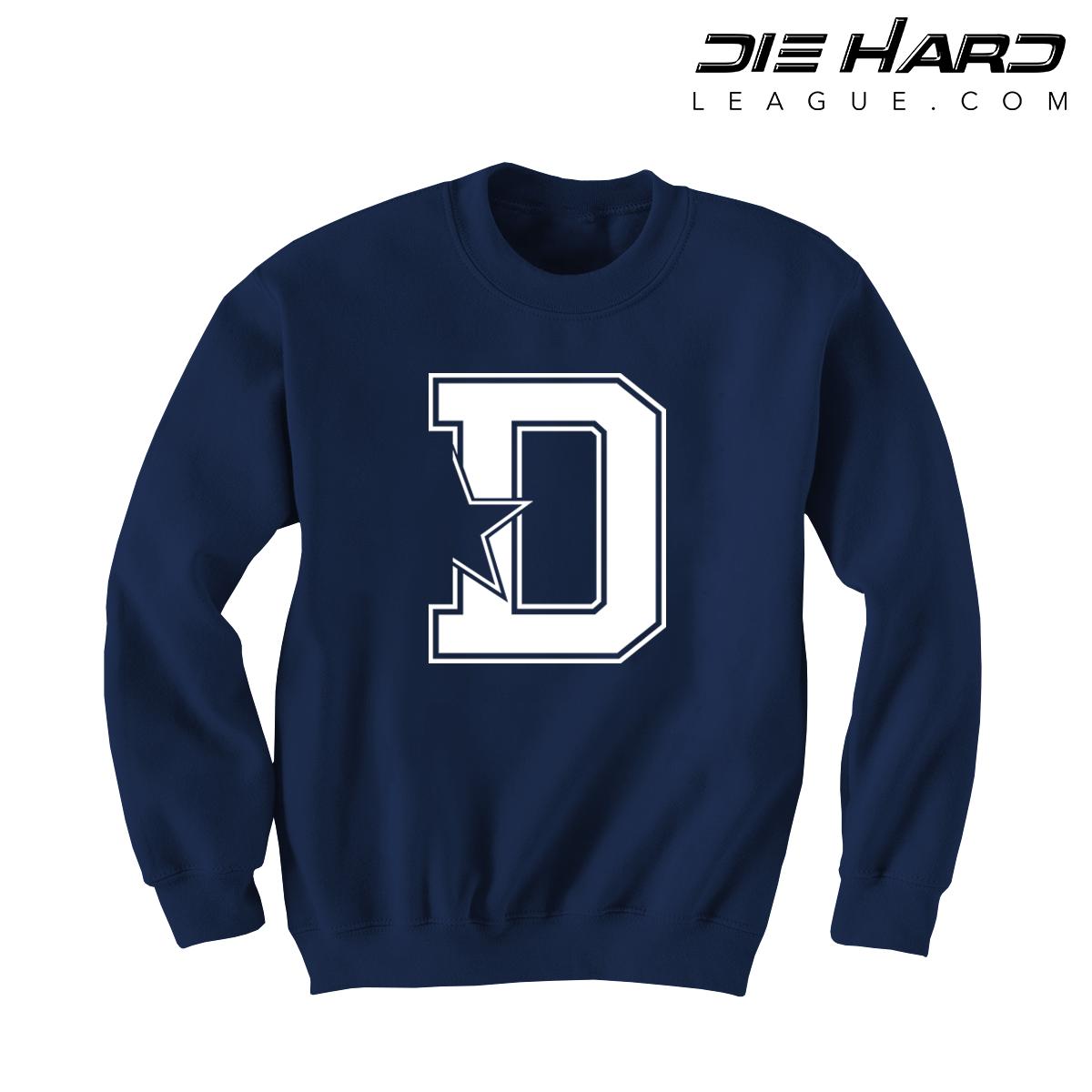 cde1cfa8 Dallas Cowboy Sweatshirts - D Star Navy Sweatshirt