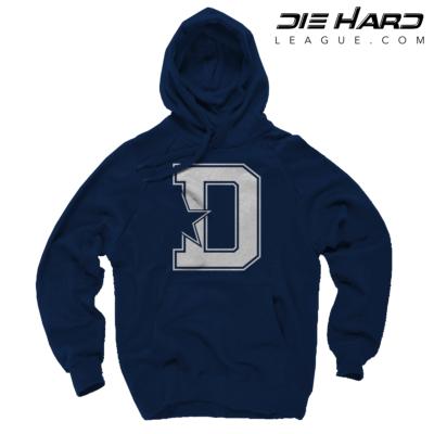 Dallas Cowboys Hoodie For Men - Dallas Cowboys D Star Navy Hoodie