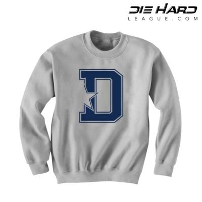Dallas Cowboy Sweatshirt - D Star White Sweatshirt