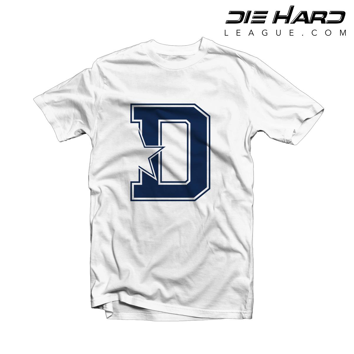 87580141 Dallas Cowboys Shirts For Men - Dallas Cowboys D Star White Tee