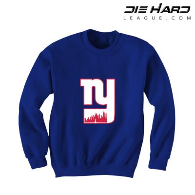 Giants Sweater - NY Giants Alternate City Logo Blue Sweatshirt