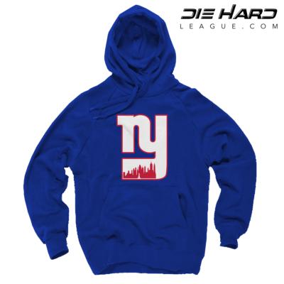 New York Giants Sweatshirt - NY Giants Alternate City Logo Blue Sweatshirt