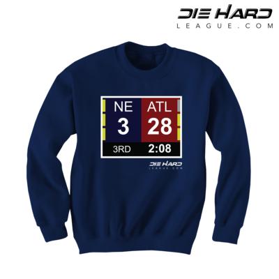 New England Patriot Sweatshirts - Patriots Superbowl Navy Sweatshirt