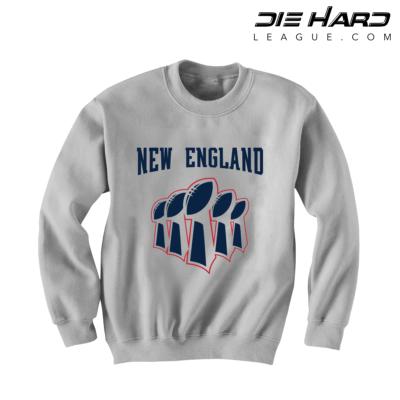 Patriot Super Bowl Wins - Patriots Superbowl White Sweatshirt
