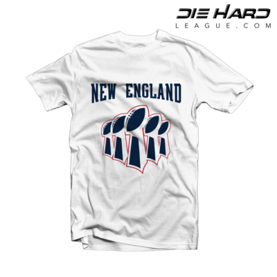 New England Patriots Shirt - Patriots Superbowl White Tee