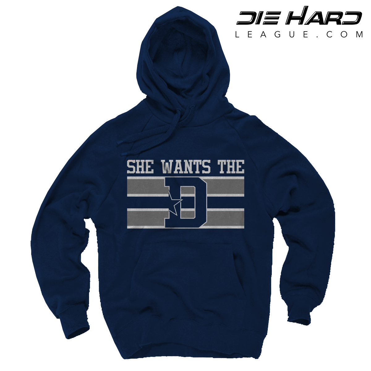 c1d94da34 Dallas Cowboys Hooded Sweatshirt - She Wants The D Navy Hoodie
