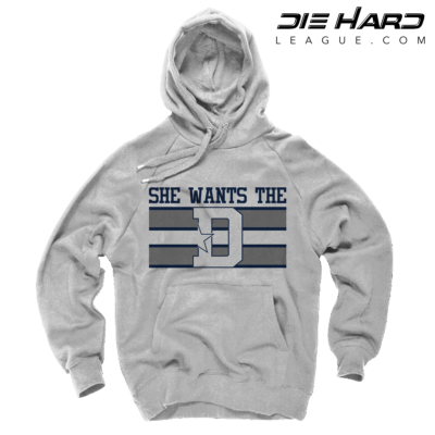 Dallas Cowboy Sweatshirts - She Wants The D White Hoodie