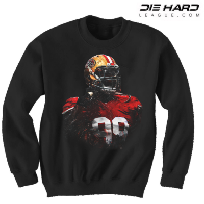 San Francisco 49ers Sweatshirt - San Francisco 49ers Black Crewneck