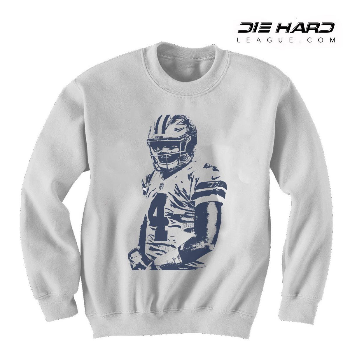 low priced ab365 6f84f Dallas Cowboy Sweatshirt - Dak Prescott Sweater White
