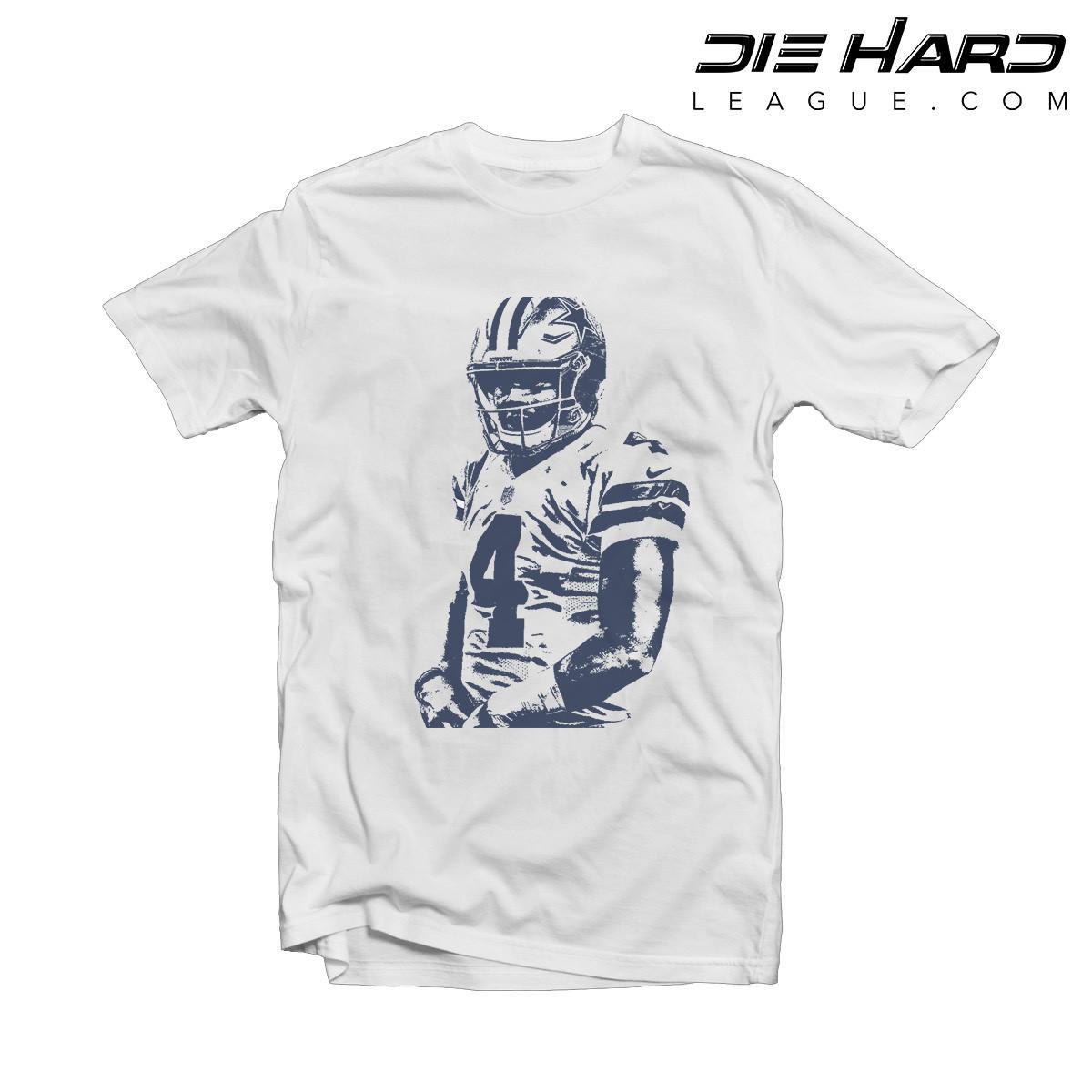 the latest e85af 988dd Dak Prescott Shirt - Dallas Cowboys Shirt White