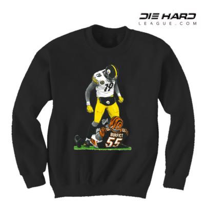 Steelers Sweater - Pittsburgh Steelers Juju Disrespect Black Crewneck