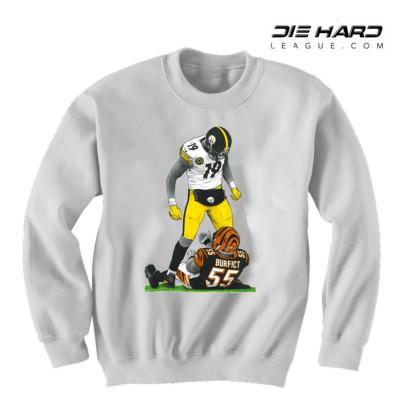 Steelers Sweater - Pittsburgh Steelers Juju Disrespect White Crewneck