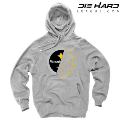 Pittsburgh Steelers Hoodies - Pittsburgh Hoodie 2 Tone White