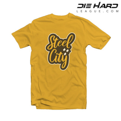 Steelers T Shirt - Pittsburgh Steelers Steel City Yellow Tee