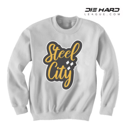 Pittsburgh Steelers Ugly Sweater - Steel City White Crewneck