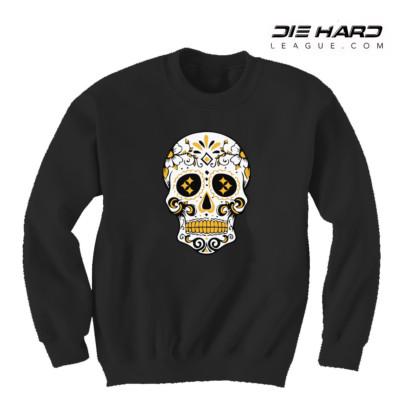 Steelers Sweater - Pittsburgh Sweater Black Skull