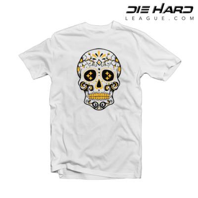 Pittsburgh Steelers Shirt - Steelers White Skull Tee