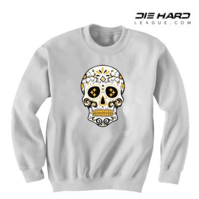 Steelers Sweater - Pittsburgh Sweater White Skull
