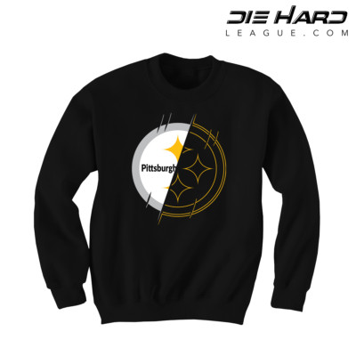 Steelers Sweater - Pittsburgh Crewneck 2 Tone Black