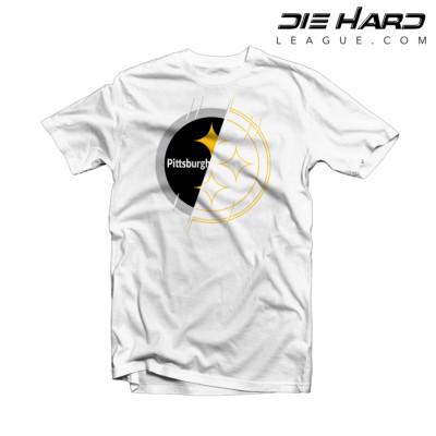 Steelers T Shirts - Pittsburgh Steelers White 2 Tone