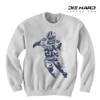Dallas Cowboys Sweatshirt - Ezekiel Elliott Sweater White