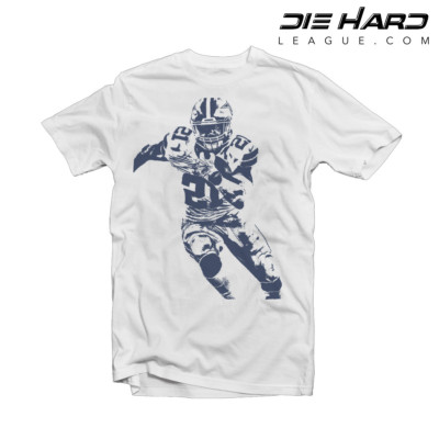 Ezekiel Elliott Shirt - Dallas Cowboys Shirt White